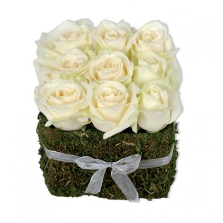 roses blanche pour centre de table