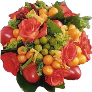bouquet de mariage orange