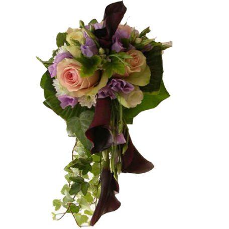 bouquet bordeau et blanc